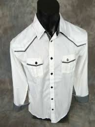 Roar Shirt Size Chart Mens Roar Shirt White Textured Western Style Embroidered
