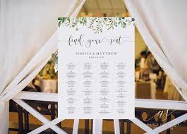 Editable Seating Chart Wedding Wedding Seating Chart Wedding Seating Plan Alphabetical
