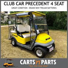 club car yellow precedent 4 seat golf cart buggy brand new trojan batteries great condition