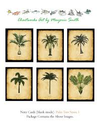 Palm Tree Chart Palm Tree Cards Series 1b Florida Palm Tree Note Cards