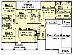 1600 square foot house plans with 2 car garage awesome cottage style house plans under 1500