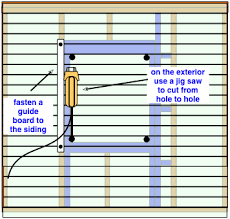 how to build a frame for a new window