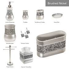 Amazon.com: Creative Scents Brushed Nickel Bathroom Accessories ...