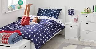 navy star duvet cover set single