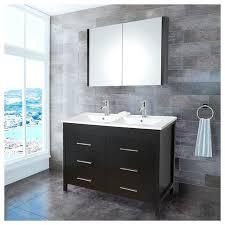 48 in double sink bathroom vanity 48 rigel large double sink modern bathroom vanity cabinet