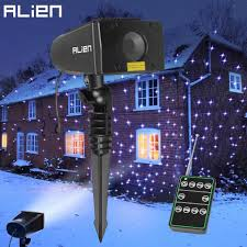 Star Motion Christmas Lights Us 119 0 30 Off Alien 7 Color Motion Static Outdoor Christmas White Star Laser Projector Lights Holiday Waterproof Xmas Tree Garden Shower Light In