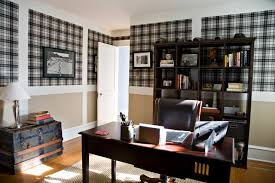 wallpaper for home office. office space with plaid wallpaper traditionalhomeoffice for home i