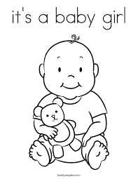 Small Picture Newborn Baby Girl Coloring Pages Coloring Home