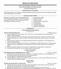 Public Health Resume Objective Examples Health Inspector Resume Example Public Health Dayton