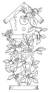 Small Picture bird house coloring pages Google Search Digital Stamps
