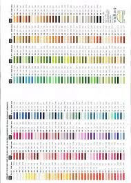 Cosmo Floss Color Chart 50 Unmistakable Anchor To Dmc Thread Conversion