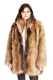 red fox shawl collar faux fur jacket 1