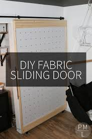 this diy sliding fabric door is a great idea if you want to save money on