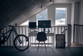 ultra minimalist office.  Office 16 Table By The Stairs To Ultra Minimalist Office