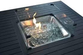 wind guard aluminum propane fire pit table round glass accessories propane fire pit