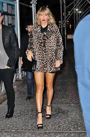 Small Picture Taylor Swift in Leopard Print Coat 18 GotCeleb