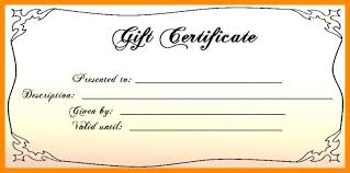 Gift Certificates Online Printable Certificate Template Free Massage