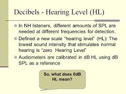 Cd 491 Audiology Lecture 2 Clinical Applications Ppt