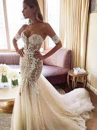 buy stylish sweetheart watteau train mermaid wedding dress with