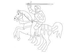 Kleurplaat Ridder Te Paard Afb 9840 Images