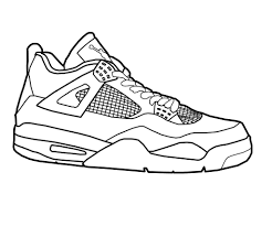 Air Jordan Coloring Pages Sheet Linear Free Printable Coloring Pages