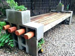 cinder block furniture. Beautiful Furniture Concrete Block Furniture Ideas Cinder Patio  Creative Backyard Within  For