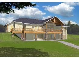 image of ideas house plans sloping lot walkout basement