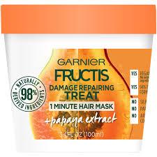 garnier fructis hair treats with papaya