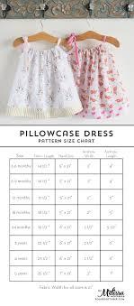 Pillowcase Dress Pattern And Size Chart Aaa Pillowcase