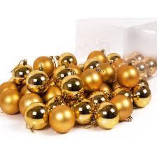 Deuba Weihnachtskugeln Gold 54 Stk Christbaumschmuck Aufhänger Christbaumkugeln Weihnachtsbaumschmuck Weihnachtsbaumkugeln
