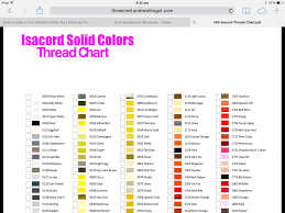 Isacord Color Chart Isacord Colours By Name Paper Piecing Machine Embroidery
