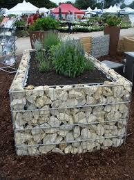 gabion raised garden bed