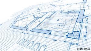 architecture design blueprint. Architecture Design: Blueprint Plan - Illustration Of A Modern Residential Building / Technology, Design E