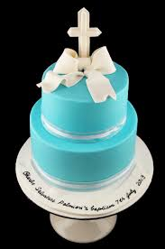 Simple Christening Baptism Cake For A Baby Boy Cakecentralcom