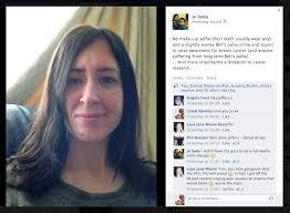 jo soda no make up selfie for cancer nomakeupselfie cancer research