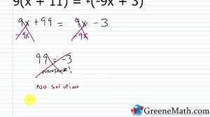 algebra i practice set 7 solving linear equations with no or infinite solutions