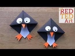 easy penguin bookmark corner red ted art s