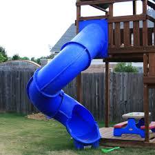 blue 7ft spiral slide