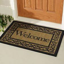 outdoor front door matsWelcome Mat  eBay