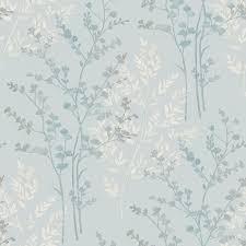 Patterned Wallpaper Magnificent Arthouse Fern Motif Teal 48 Wardgroup