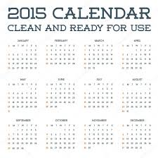 Simple Calendar Template 2015 2015 Clean Calendar Template Stock Vector Ckybe 88104414