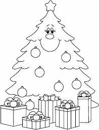 christmas tree with presents coloring pages. Plain Presents Printable Christmas Tree Coloring Pages Happy Holidays Blank Page Of  With Presents For E