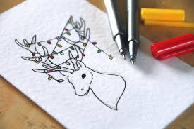 Christmas Card Ideas With Lights Christmas Card Drawing At Getdrawings Com Free For