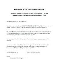 Notice Of Lease Termination Letter From Landlord To Tenant Lease Termination Letter Lease Termination Notice Letters Tenancy