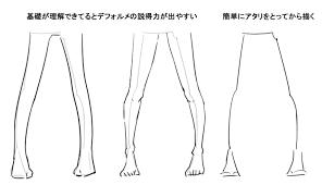 足脚を描く 萌えイラストを描きたいぷらす