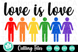 To use this design for commercial use. Love Is Love A Pride Lgbt Svg Cut File 267571 Cut Files Design Bundles