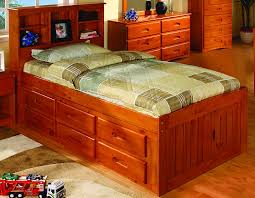 image of twin captains bed with 6 drawer storage