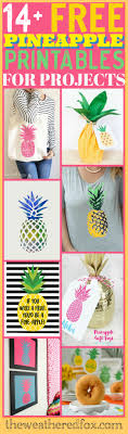 Free Diy Projects Pineapple Printables For Your Next Project The Weathered Fox