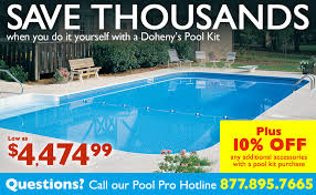 inground pools home pool kits doheny s fiberglass pools diy kits