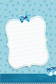Individual Graph Paper Vintage Blue Hearts Journal Blank Quad Grid Notebook With